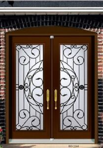 Wrought Double Door Iron Front  contemporary or traditional Desi