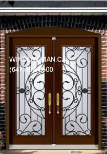 Double Front Door Wrought Iron  Supply Install