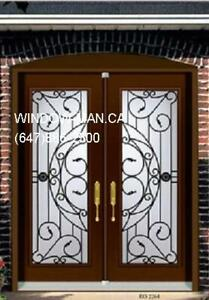 Iron Front Double Wrought Door  Best Pricing and Service