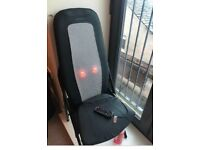 Heated massage chair