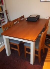 Dining table and chairs - seats 6 (Bought from Next)
