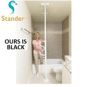 NEW SECURITY POLE  CURVE GRAB BAR 1100B 225089034 Stander Security Tension Mounted Standing Aid BLACK SAFETY