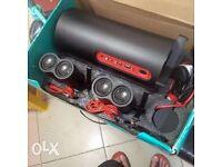 Logitech top of the range PC aux speaker 2.1 system.