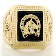 10K Solid Gold Mens Ring