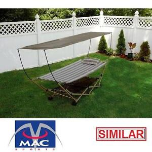USED MS HAMMOCK WITH CANOPY - 124636947 - MAC SPORTS BLUE SUPPORT FRAME CANOPIES HAMMOCKS CAMPING RELAXATION SWING SW...