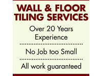 Professional Wall & Floor Tiling 25yrs Experience