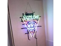 BARGAIN 8 ball neon light ideal for man cave
