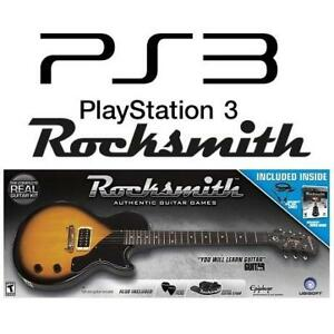 NEW PS3 ROCKSMITH GUITAR  BUNDLE 221485911 PLAYSTATION 3 GUITAR GAME PICKS AND GUITAR STRAP