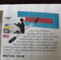 NEW auto snow broom