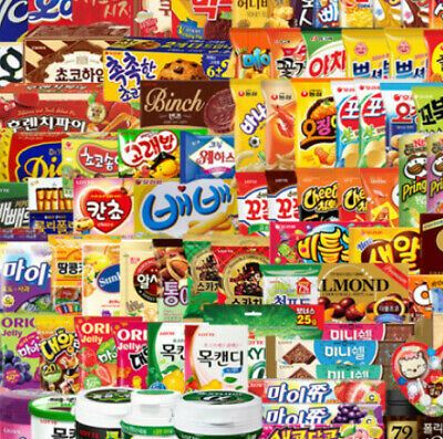 KOREA SNACK random BOX-chips/pies/jellies/candies(5 snacks/each 1 Q order)