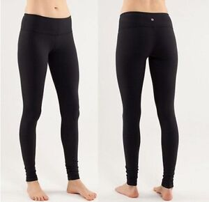 LULULEMON WUNDER UNDER LEGGINGS TIGHTS PANT BLACK SIZE 10