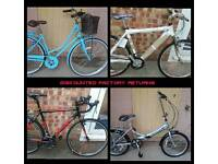 Brand new factory return bikes bicycles bike. All less than half the rrp. New stock weekly.