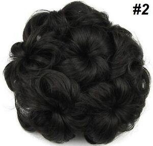 Wavy Curly Hair Bun Cover Hairpiece Scrunchie,Chignon diam.10cm St. John's Newfoundland image 4