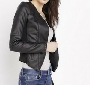Veston faux cuir noir Small