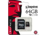 Original Kingston 32/64/128GB Micro SD SDHC/SDXC Memory Card Class 10 UK Stock