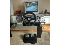 wheel with pedals Boxed (Works with Ps2 Ps1) £2