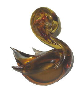 Cygne Verre Soufflé / Blown Glass Swan