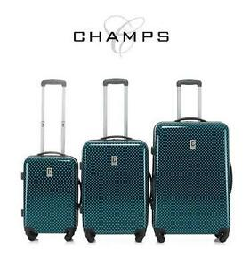 NEW CHAMPS 3 PC LUGGAGE SET POLKA SPINNER - LUGGAGE - SUITCASE - POLKA BLUE - 3 PIECE 106117924