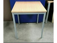 Beech Square School Table ! 73cm/65cm/65cm ! 20 Available !