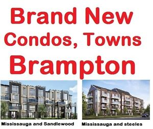 Brand New Condos, Condo-Towns and Low rise  in Brampton
