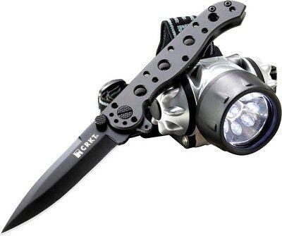 Columbia River CRKT 01KSHC Black M-16 & LED Headlamp Folding Knife Pocket Folder