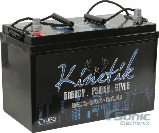 Kinetik HC2400-BLU 2400 Watts 12 Volts High Current AGM Car Audio Power Battery