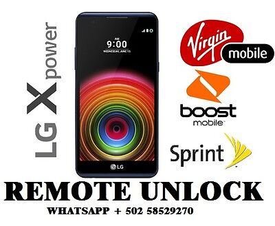 Remote Unlock Service LG X Power Ls755 Sprint Boost Mobile Virgin Mobile GSM