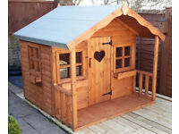 6X6 WOODEN CHILDRENS PLAYHOUSE/WENDY HOUSE TOP QUALITY LOG CABIN TALKING XMAS ORDERS NOW
