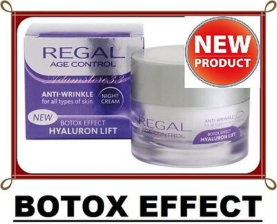 NEW REGAL ANTI AGING & WRINKLE Collagen NIGHT CREAM HYALURON LIFT BEST PRICE :)