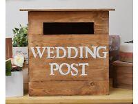 Handmade Rustic Wedding Postbox