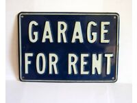 Garage to let