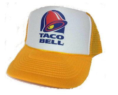 Taco Bell Trucker Hat mesh Hat Snap Back Hat yellow