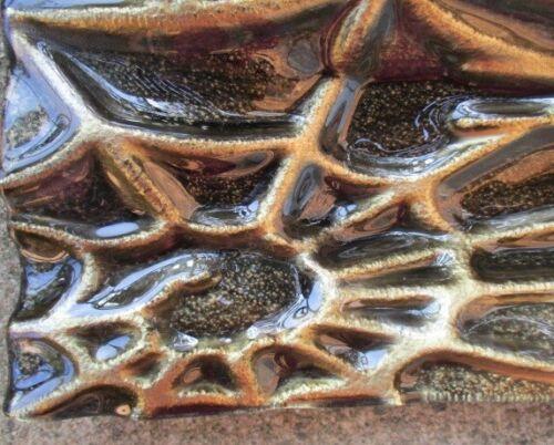 SPIDER & SPIDERWEB Studio Art Glass SERVING TRAY DISH slab cast molded