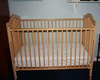 3 in 1 Crib with mattress $65