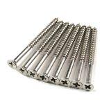 """Stainless Steel Wood Screws #9 x 2 1/4"""" for Residential Door Hinges - 24 Pack"""