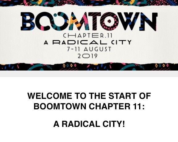 2 X Boomtown Festival Tickets Wednesday Entry Showers In