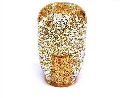 JDM Retro 90mm Clear Gold Glitter Shift Knob - 12 x 1.25 thread