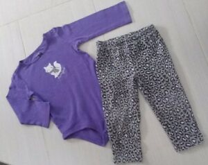 Carter's PURRFECT 2-Piece Toddler Girl Leopard-Print Outfit 24M
