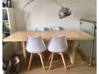Modern Ikea Dining Table - Seats 6-8, Wood Veneer