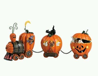 Halloween Pumpkin Express Train (NEW PUMPKIN EXPRESS TRAIN CENTERPIECE HALLOWEEN FALL HARVEST AUTUMN DECOR)