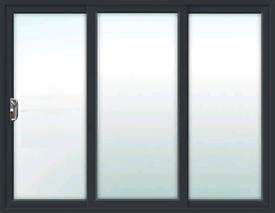 3 Pane Antrasite Grey Patio Doors Pvc.