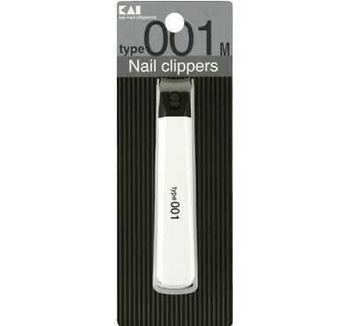 Japanese KAI Finger Toe Nail CLIPPER Nail Cutter €€White Made in Japan Type001M