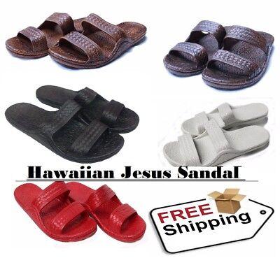 Hawaii Brown Black Chestnut Rubber Hawaiian Jesus Sandals Jandals Men And Women