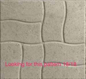 Patio stones 18/18 waivy pattern wanted