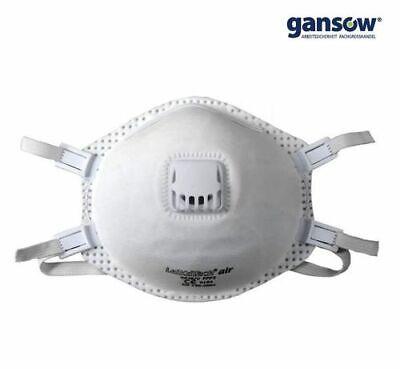 5 Stück 6676 Leikatech FFP3 Maske Feinstaubmaske Ausatemventil Atemschutzmaske