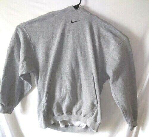 Vintage Nike Hoodie Sweatshirt L Mens Grey Pullover Center Swoosh made in USA