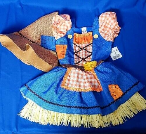 Girls Scarecrow Costume Scarecrow Sweetie Size S (4-6) Girls Dress Up