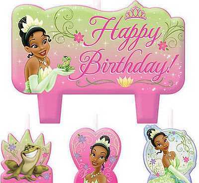 TIANA Cake CANDLES  Disney Princess & Frog birthday party supplies 4 pc molded](Disney Princess Birthday Party)
