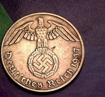 NAZI copper penny ww2 .The real coin,no fakes!!'