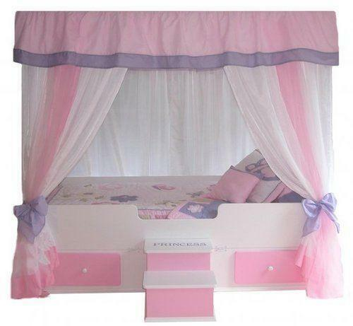 toddler canopy bed ebay. Black Bedroom Furniture Sets. Home Design Ideas